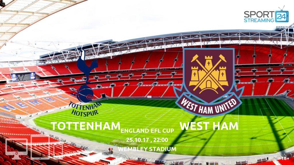 Thumbnail image for Tottenham v West Ham Live Stream EFL Cup