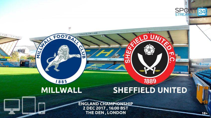 Millwall Sheffield United live stream video online