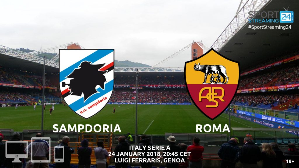 Thumbnail image for Sampdoria v Roma Live Stream | Serie A Match Preview