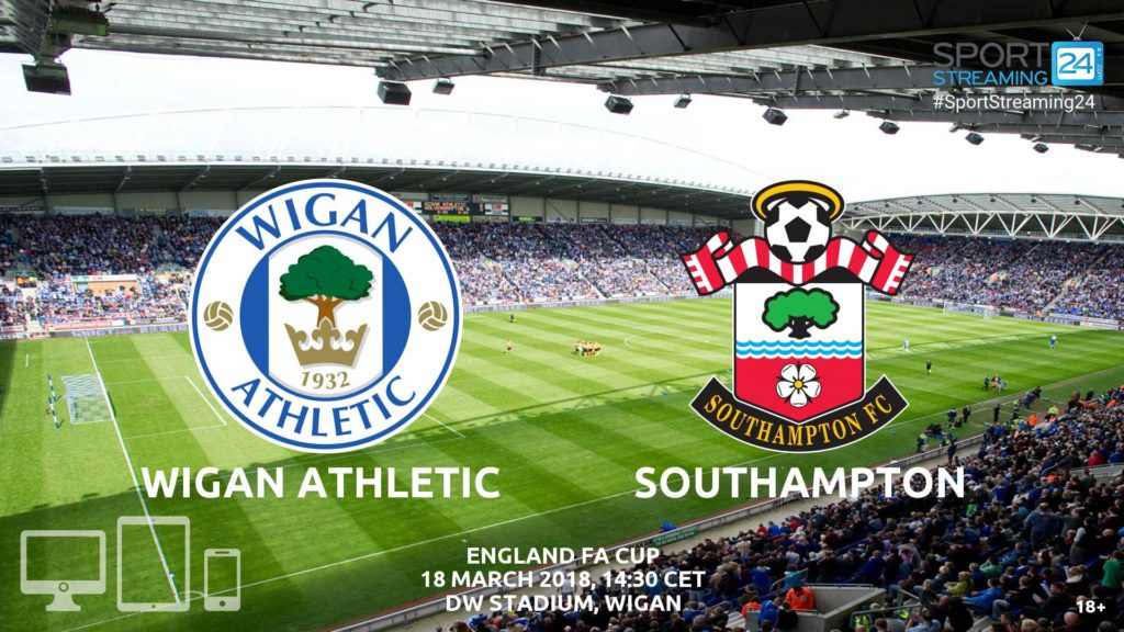 Thumbnail image for Wigan v Southampton Live Stream FA Cup