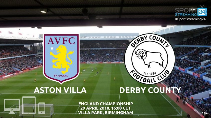 Aston Villa v Derby County livce stream bet365 video