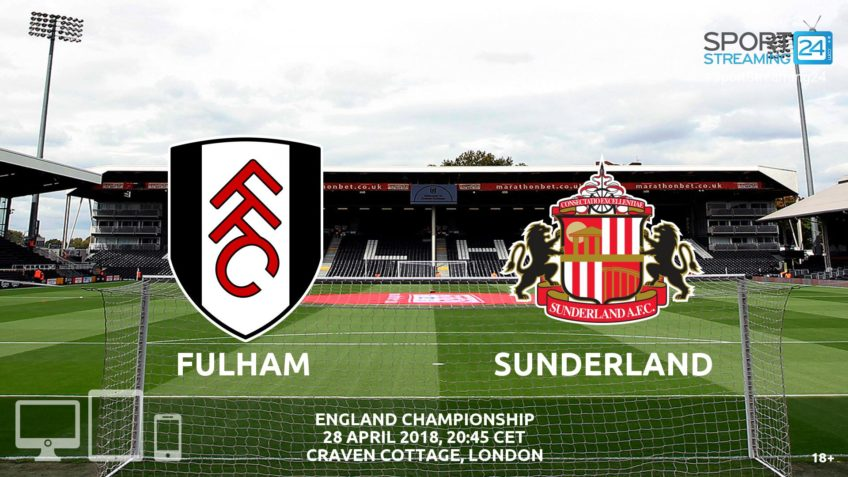 Fulham Sunderland live streaming video bet365