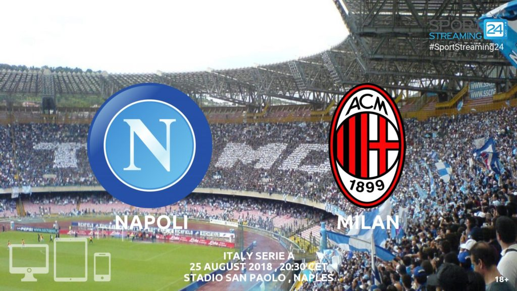 Thumbnail image for Napoli v Milan Live Streaming Serie A