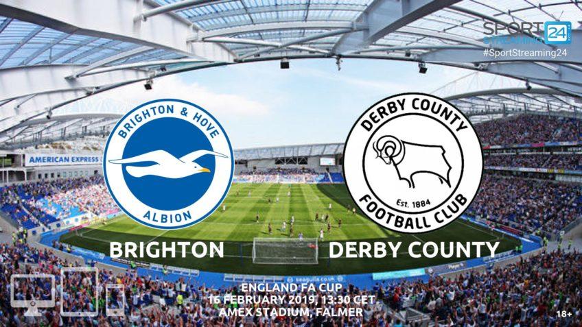 brighton derby county live stream fa cup