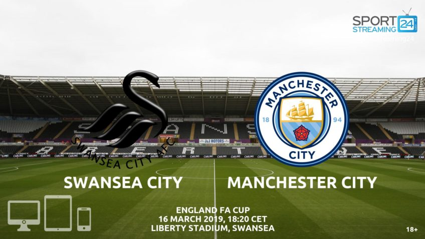 swansea manchester city live stream fa cup video free